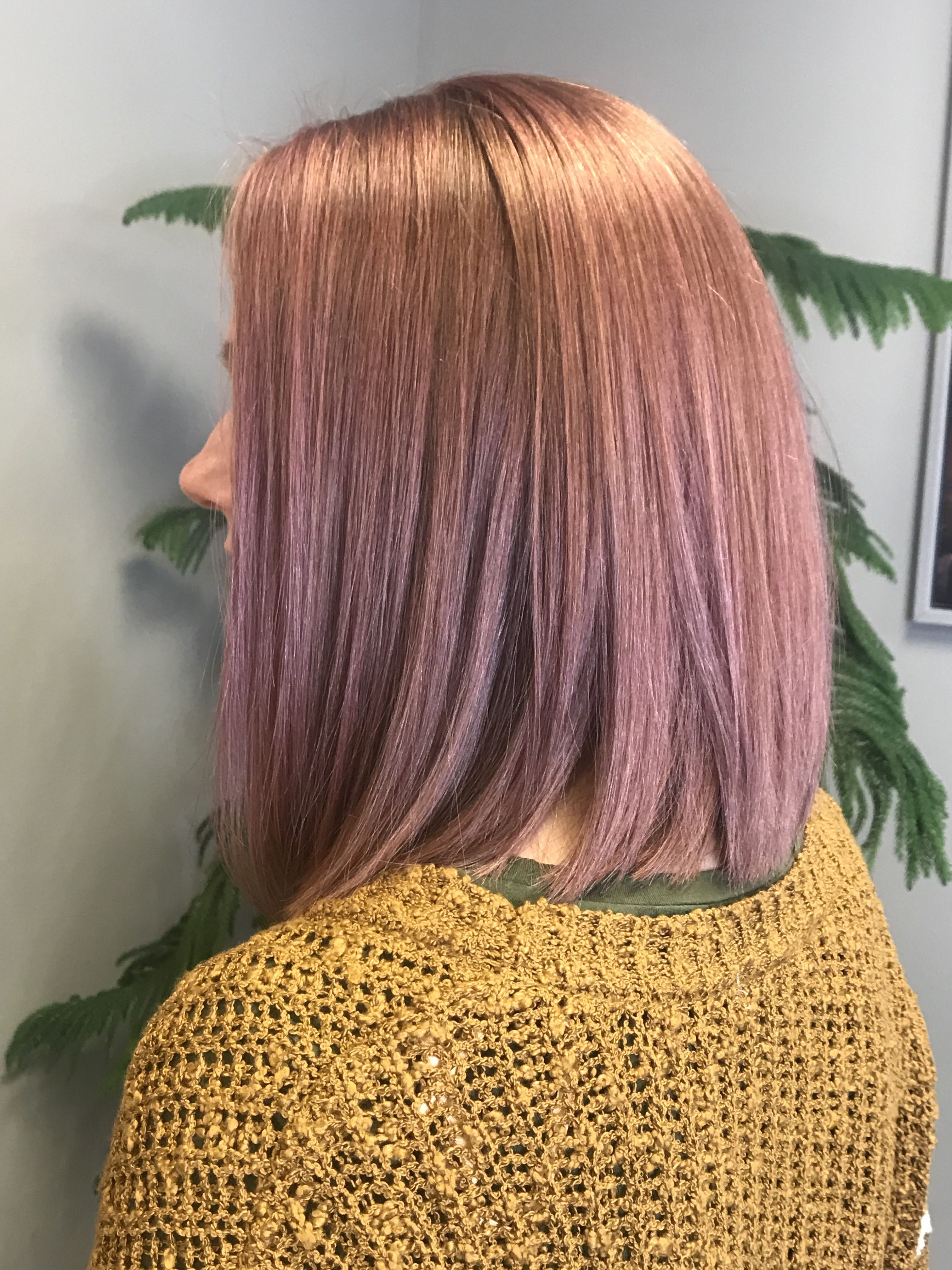 Rose Gold Hair Color By Ashley Gossman At Loft Salon In Sioux Falls South Dakota Hair Color Rose Gold Hair Color Hair