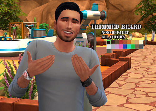 My Sims 4 Blog: Trimmed Beard by 99SimProblems | My Sims 4
