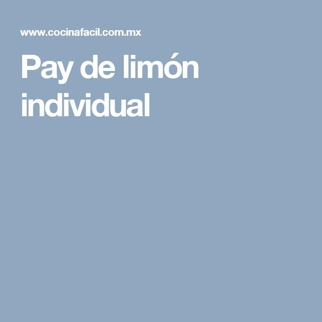 Pay de limón individual