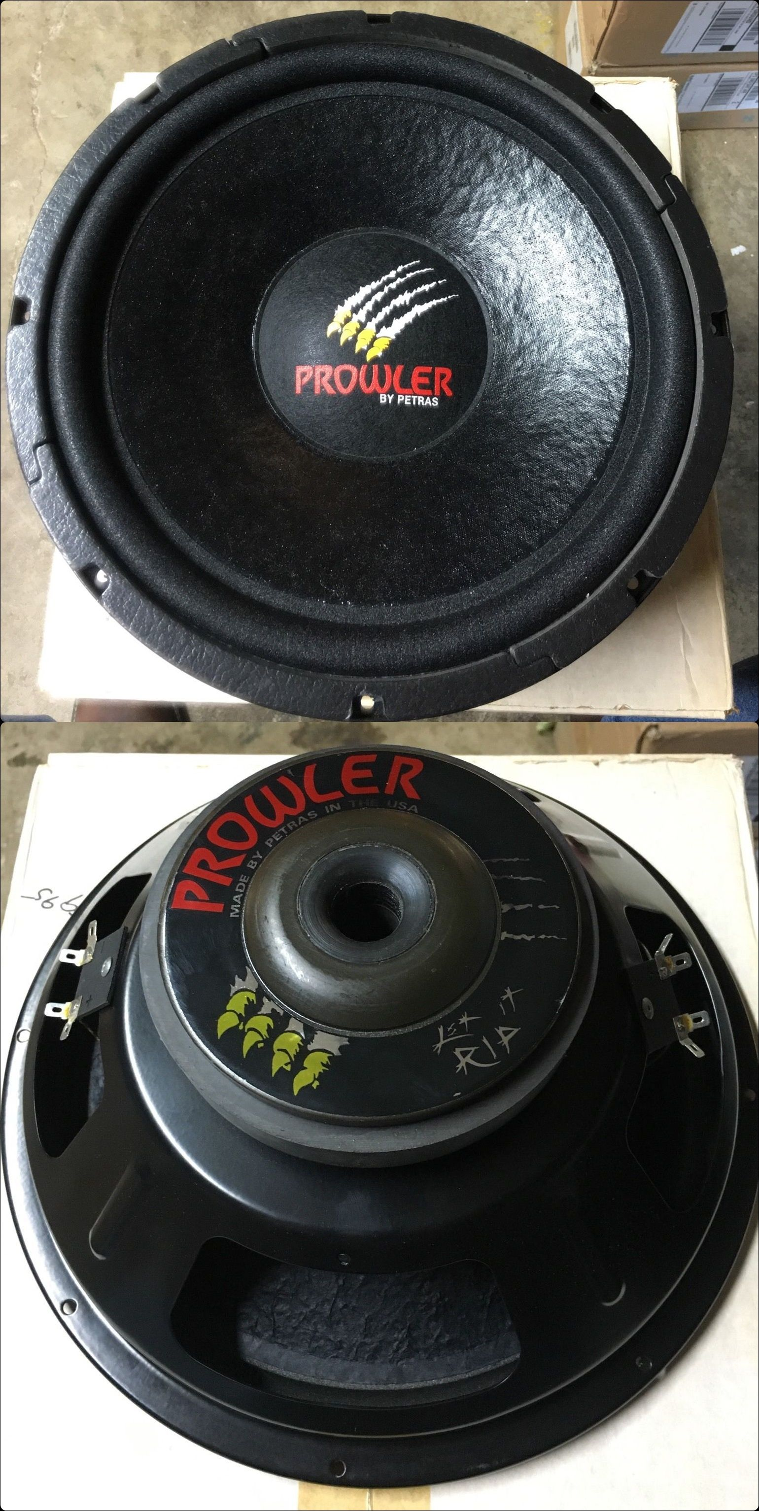 PROWLER PR124D - DVC Subwoofer. Made in Texas USA House Speaker, Old School  Cars