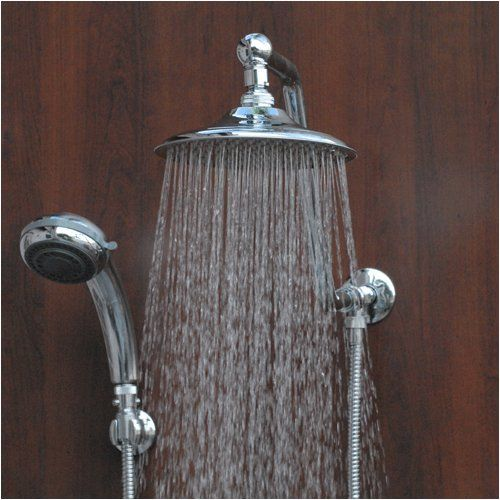 Atlantis 6 Chrome Rain Shower To Handheld Shower Head