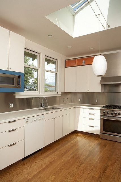 Berkeley kitchen accent colors stainless steel and steel for Kitchen cabinets berkeley