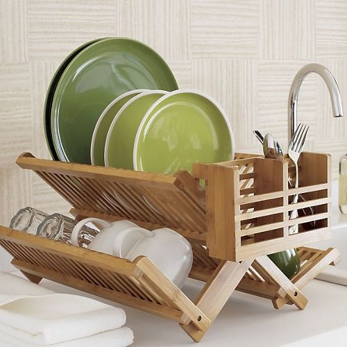 Bamboo Dish Drying Rack.Bamboo Dish Rack In 2019 Kitchen Furniture Bamboo Dishes