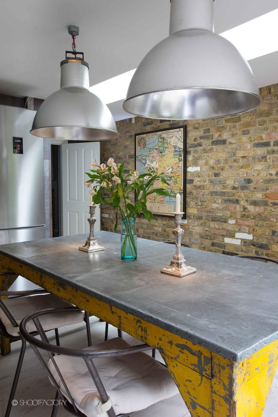 Take A Look At This Wow Factor Industrial Metal Dining Table And