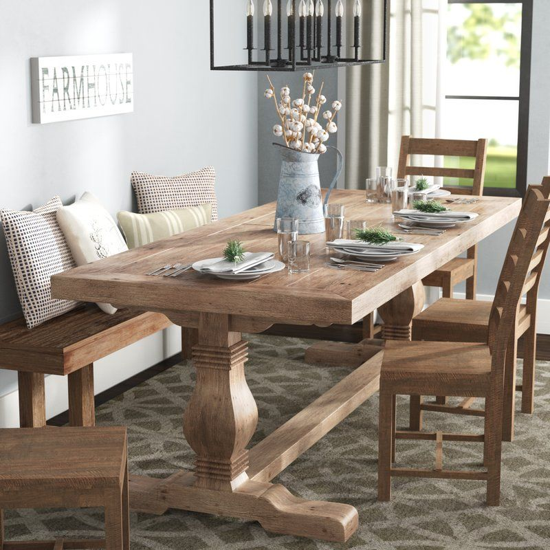 1200 Or So Lark Manor Gertrude Solid Wood Dining Table