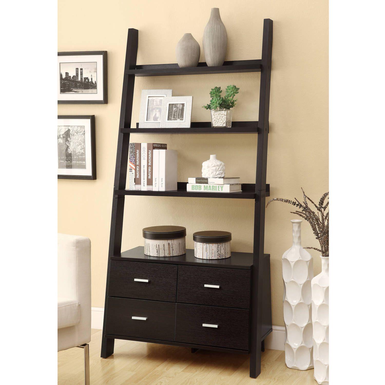 Coaster drawer ladder style bookcase walmart around the