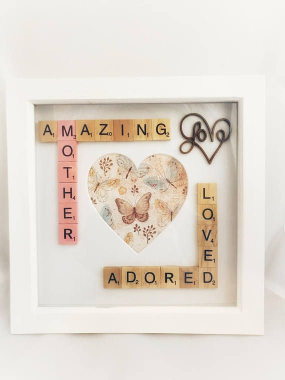 Amazing Mother Scrabble Photo Box Frame Gift. Mum Mother Gift ...
