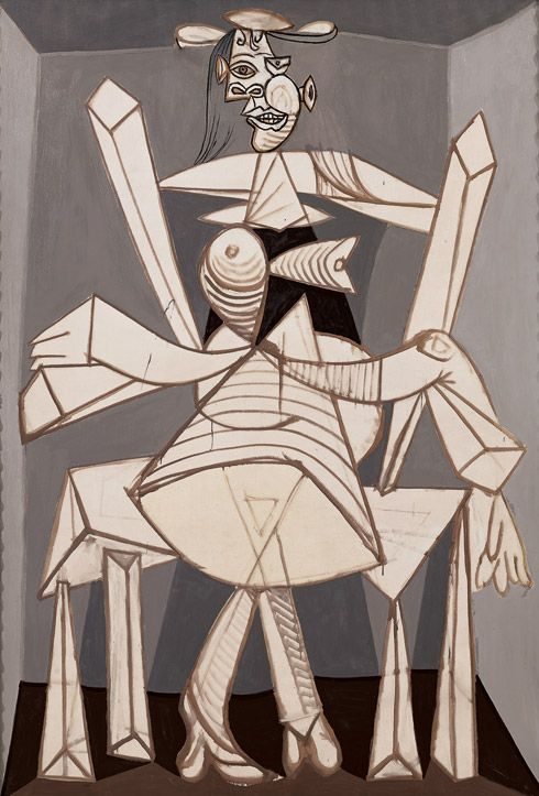 Pablo Picasso, Seated Woman in an Armchair (Dora) (Femme assise dans un fauteuil [Dora]), Grands-Augustins, Paris, May 31, 1938, included in Pablo Picasso at Guggenheim.