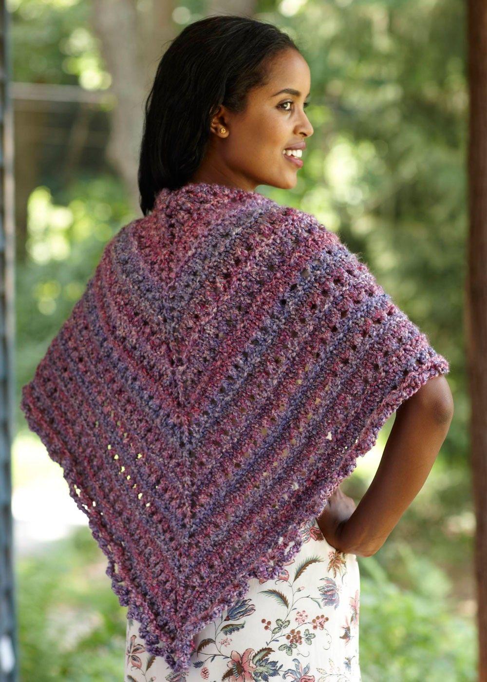 Splendid Triangle Shawl Pattern (Knit) - Patterns - Lion Brand Yarn ...