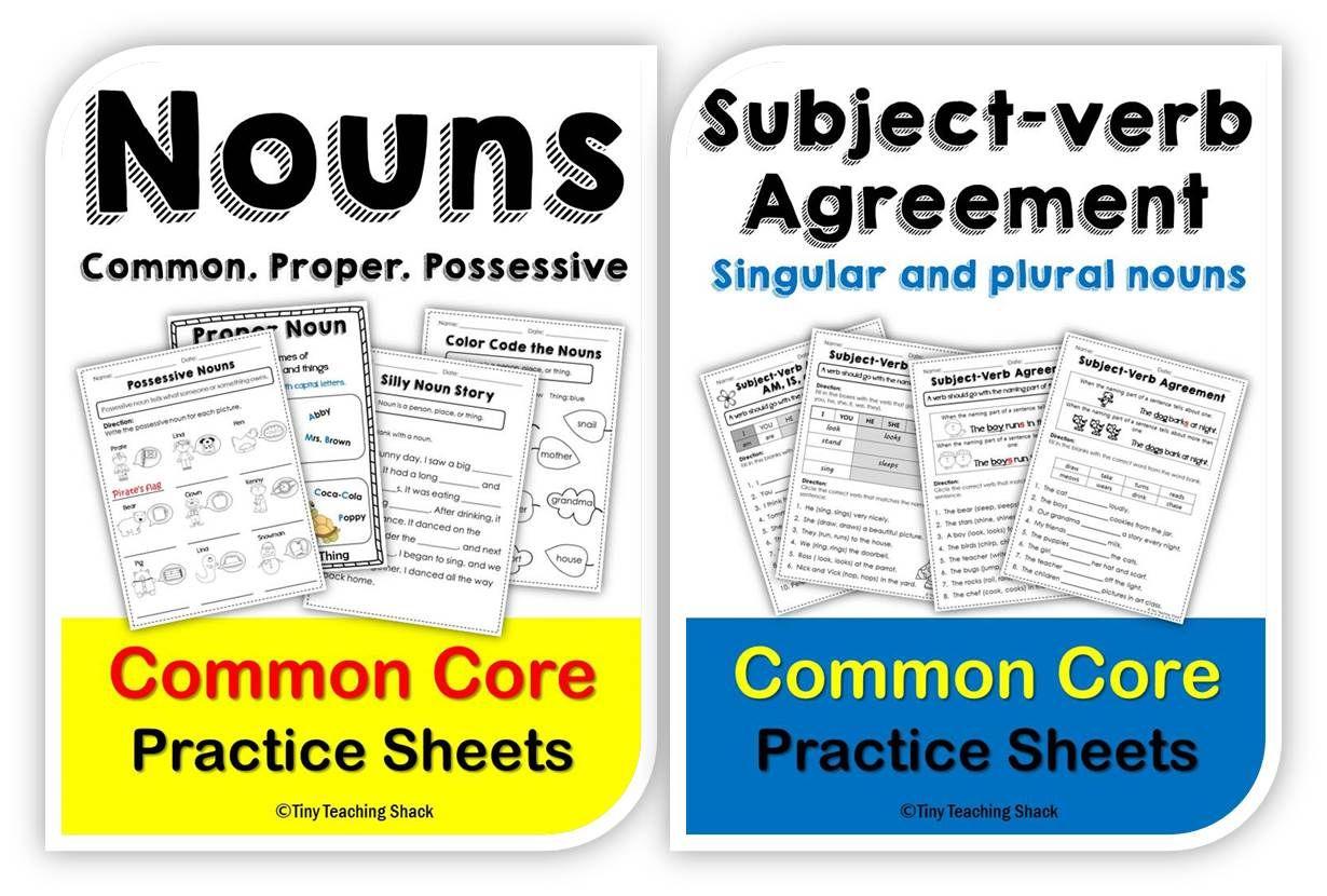 Nouns Common Proper Possessive Subject Verb Agreement L
