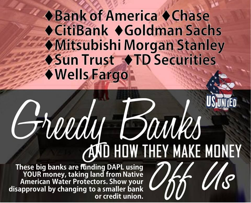 NoDAPL Credit Unions across the USA >. http//www
