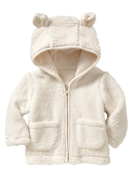 567618a18bf2 Baby Gap Infant Toddler Sherpa Bear Hoodie Coat Ivory Frost NWT 18 ...