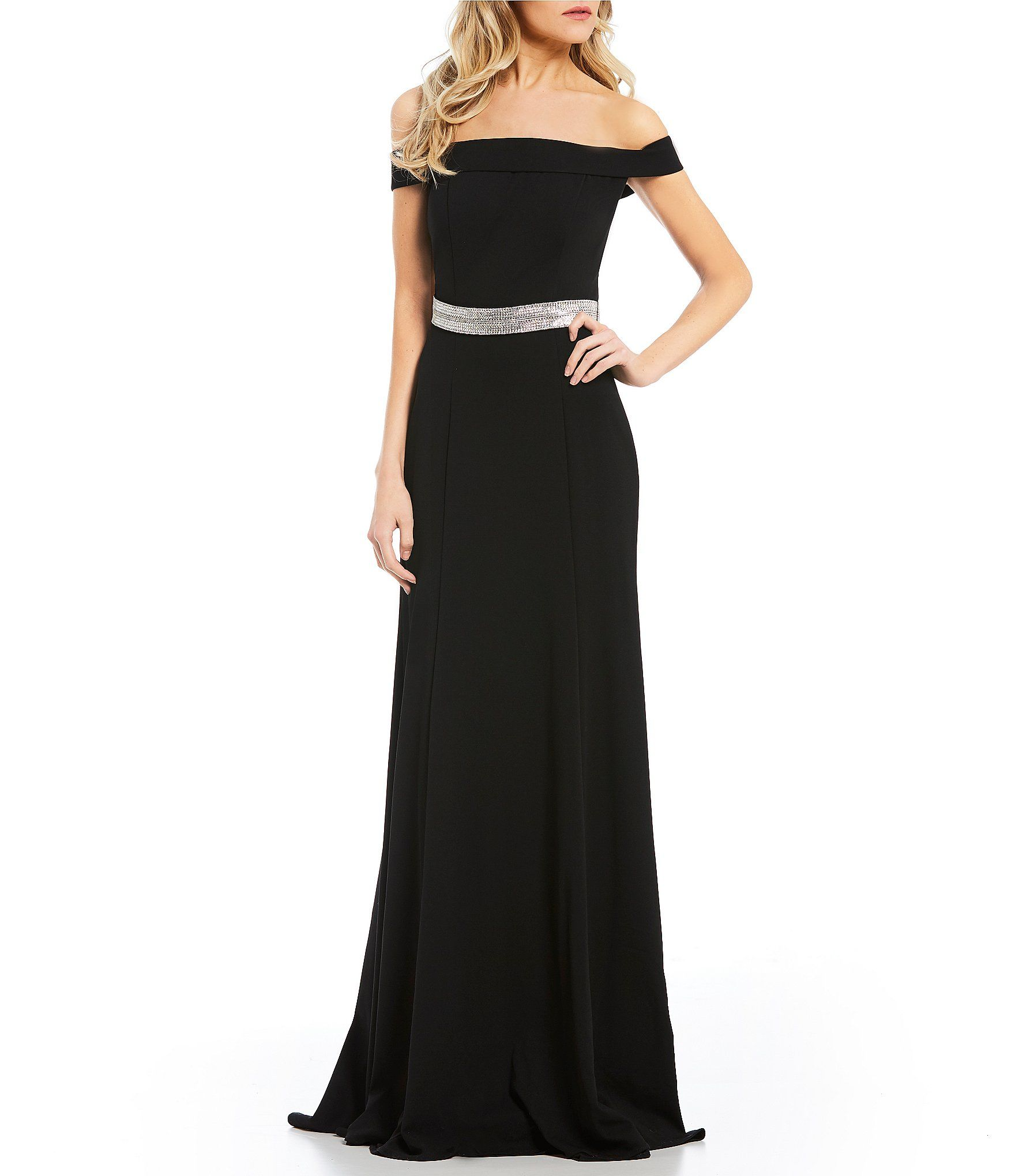 aac15b7d429 Coya Collection OffTheShoulder Long Dress  Dillards