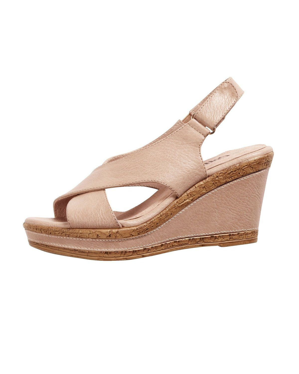 01934d5d9a302 Cotton Traders Womens Ladies Comfort Sling-Back Easy Fit Wedge ...