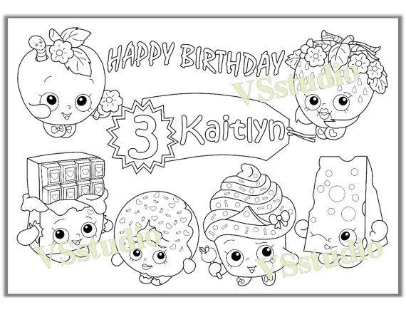 Shopkins Birthday Party Favor