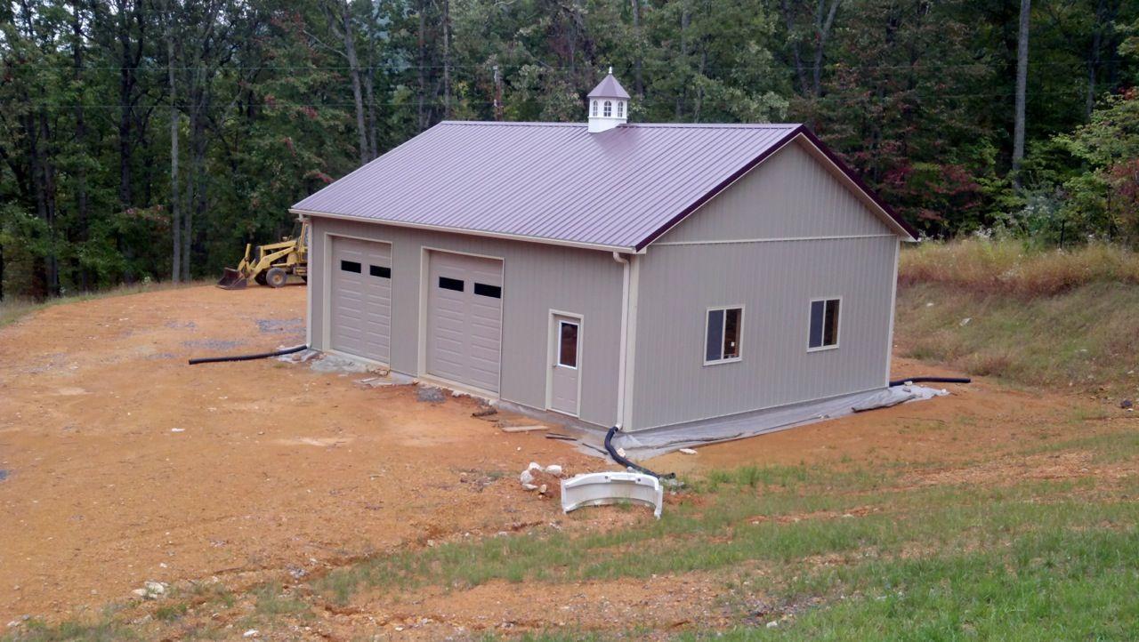 30x40x12 residential garage in edinburg va ras12102 for Residential pole barn kits