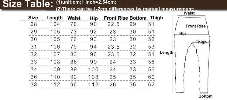 mens pants size chart | Sewing is fun! | Mens pants size