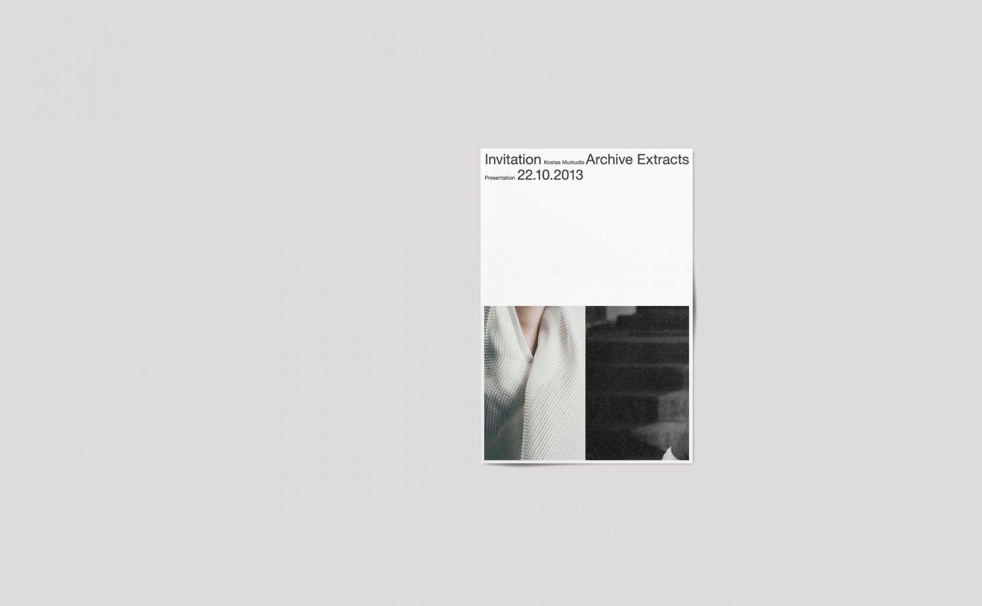 Kostas Murkudis – Posters and Brochures – Haw-lin Services
