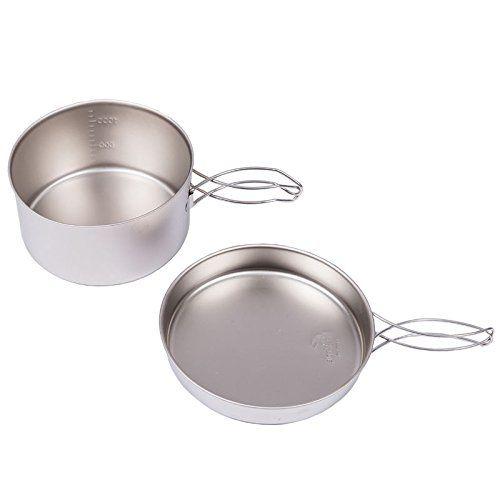 6 Pcs Outdoor Portable Cooking Camping Hiking Cookware Set Picnic Pot Pan Set