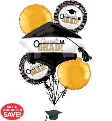 Foil Key to Success Graduation Balloon Bouquet 5ct