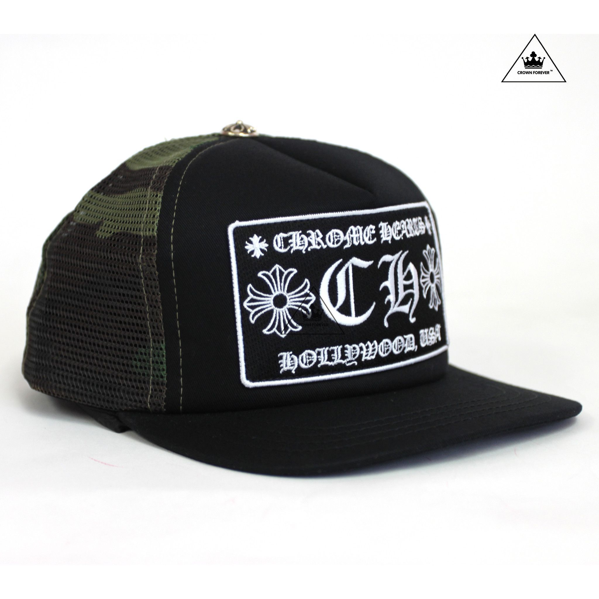 1de6805a5 CH Hollywood Patch Trucker Cap Black/Camo   Chrome Hearts Hats ...