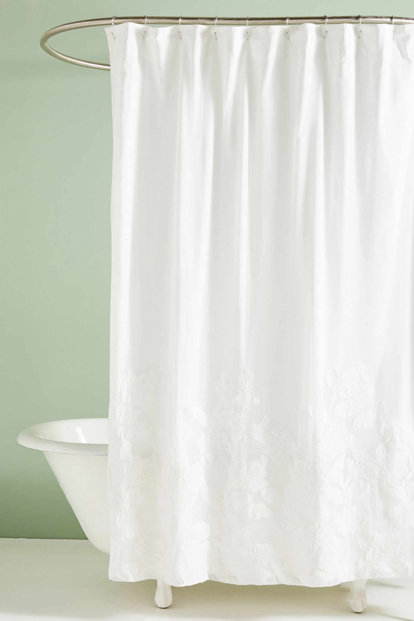 Appliqued Florals Shower Curtain With Images Boho Shower
