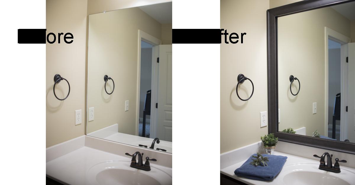 5020 Guest Grey Mirror Frame Bathroom Mirror Frame Bathroom Mirrors Diy Diy Bathroom