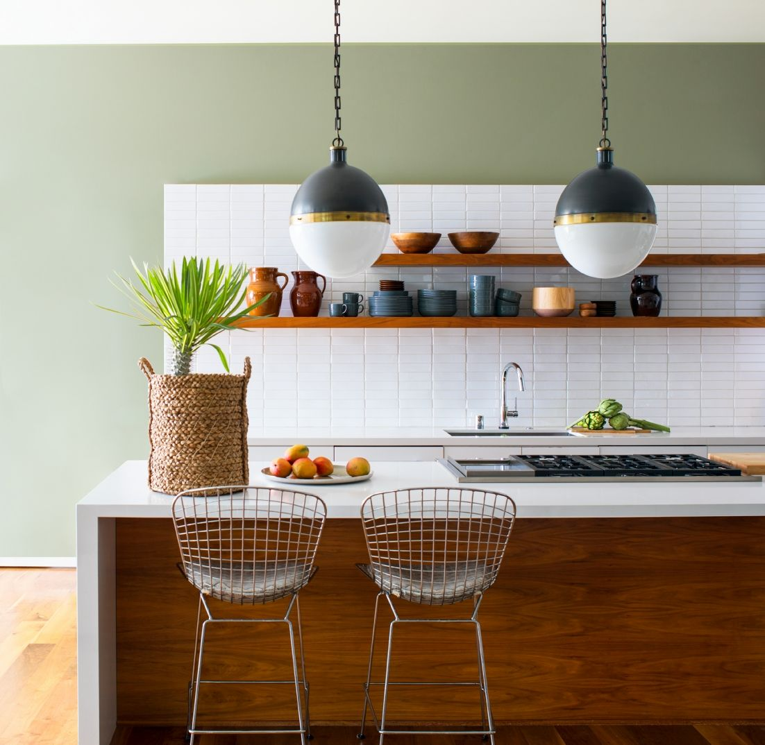 Green Paint Ideas   Benjamin Moore   Cocina verde, Paredes cocina ...