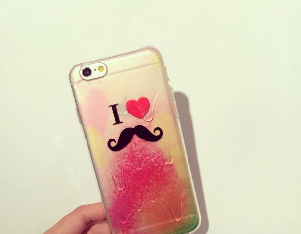 IPhone 6/6 Plus Neue Form Regenbogen Eiscreme Farbverlauf Silikon Handyhülle