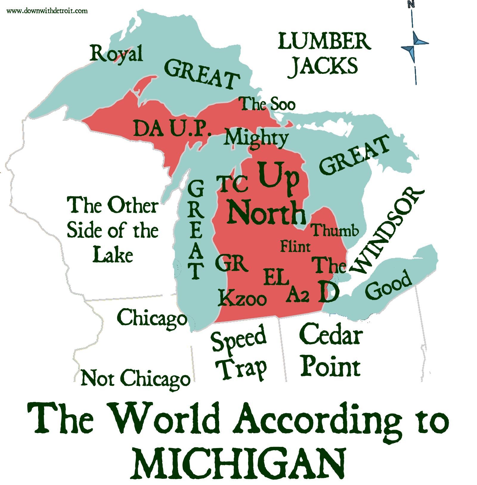 The world according to Michigan... yup sounds about right.