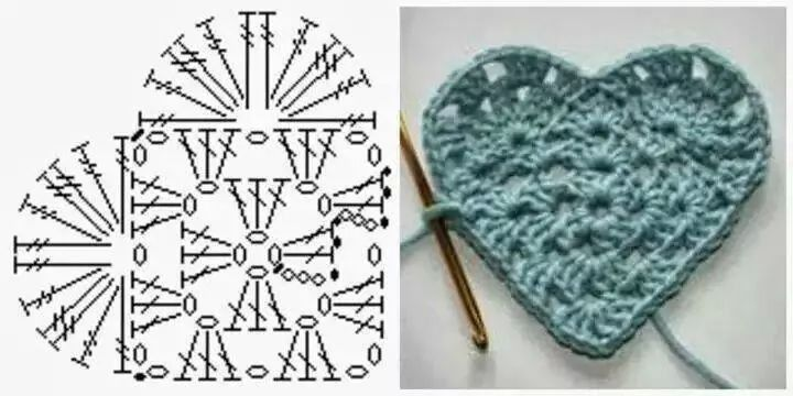 Corazon crochet patron | corazón ganchillo | Pinterest | Corazon ...