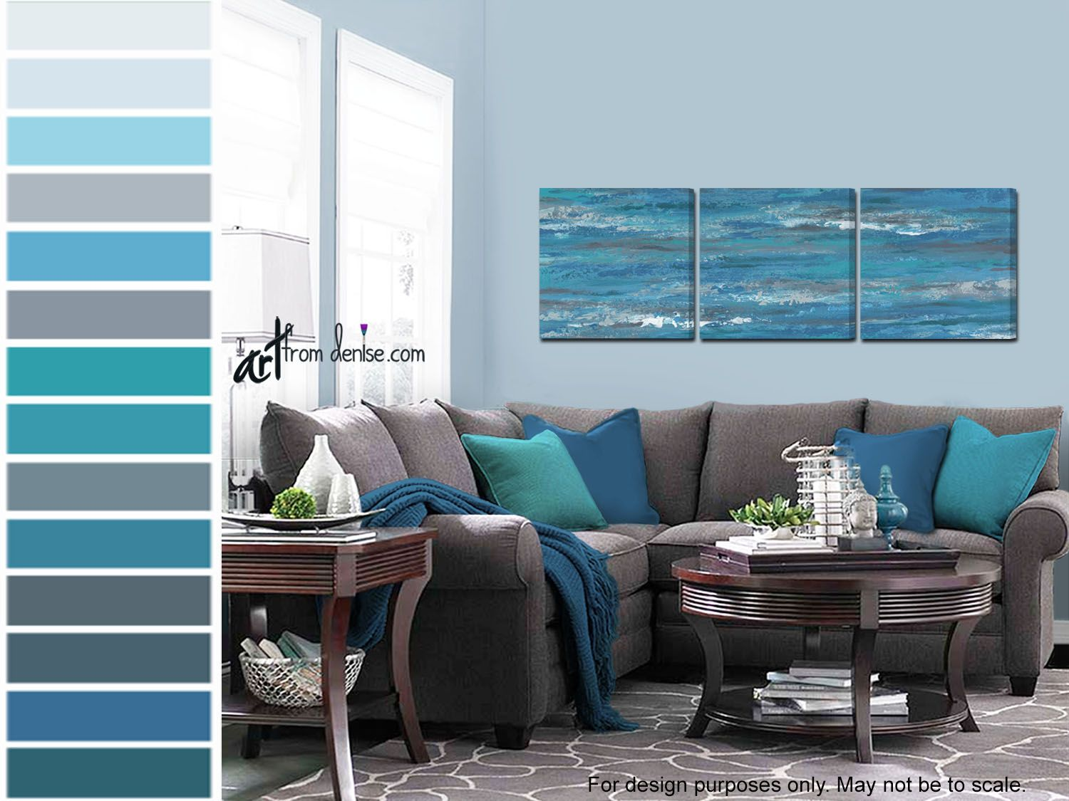 Pin On Artfromdenise Com #teal #and #grey #living #room #decorating #ideas