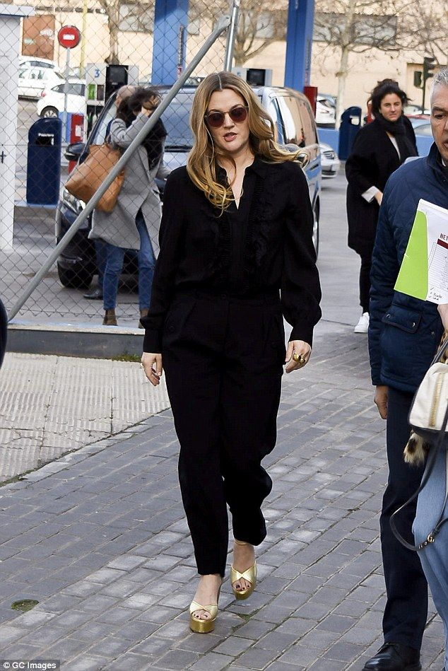 Drew Barrymore looks chic at Madrid Netflix photocall