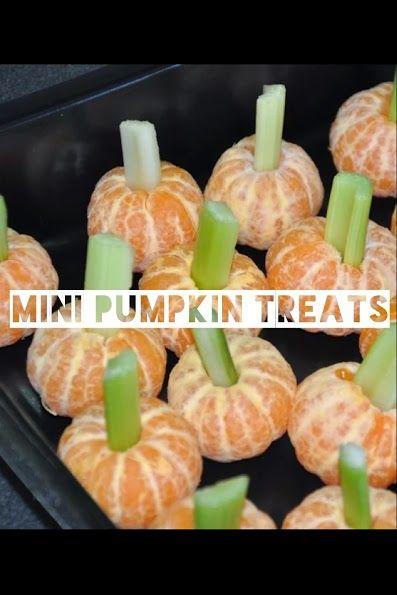 creative mini healthy pumpkin treats for kids birthday party (by
