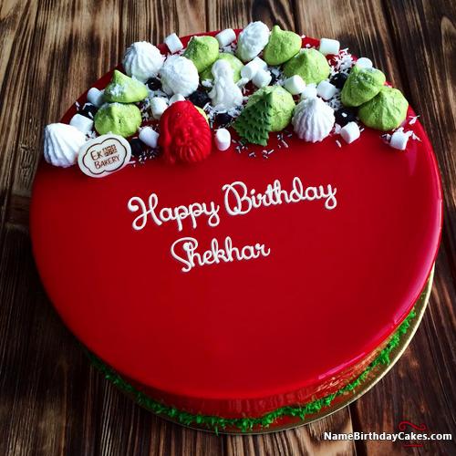 Best Red Velvet Cake For Friends Birthday Wishes With Name Shekhar Happy Birthday Cake Images Friends Birthday Cake Happy Birthday Cakes