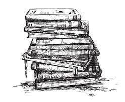 Bücherstapel gezeichnet  Bildergebnis für bücherstapel schwarz weiß | Brainstorm | Pinterest