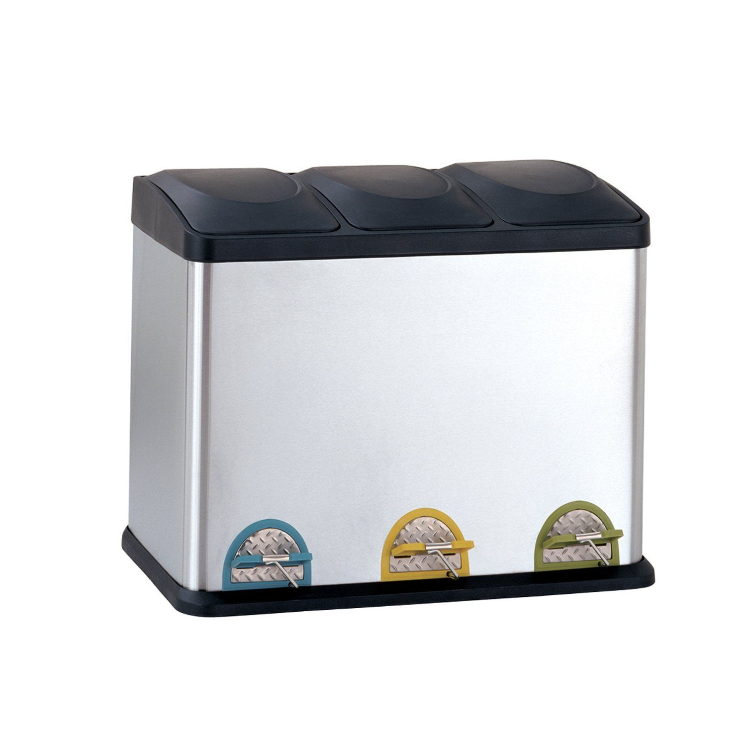 Best Dual Trash Cans Recyclers With Double Compartments Trash Can Recycle Trash Trash Containers