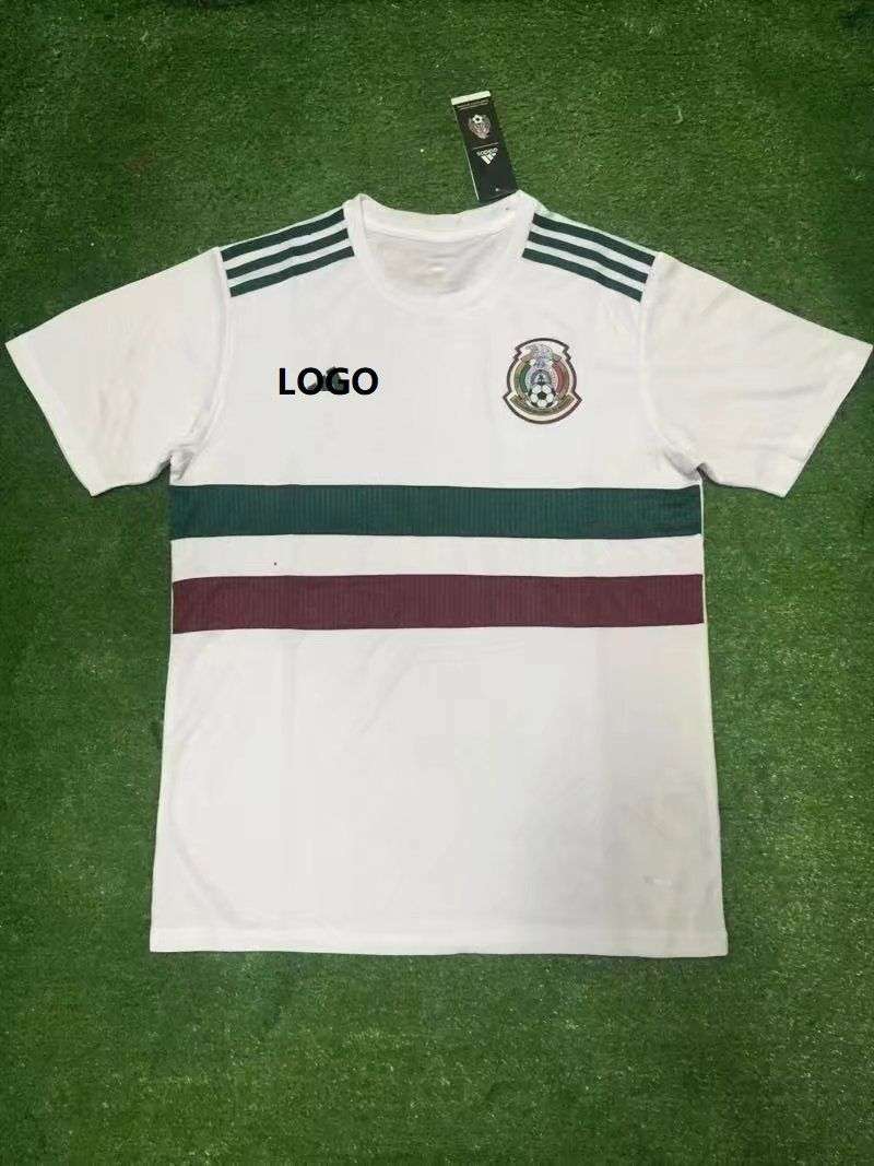 18 World Cup Man Mexico White Shirt Soccer Jersey Men Football Uniform  Custom Name Number 2294f179f