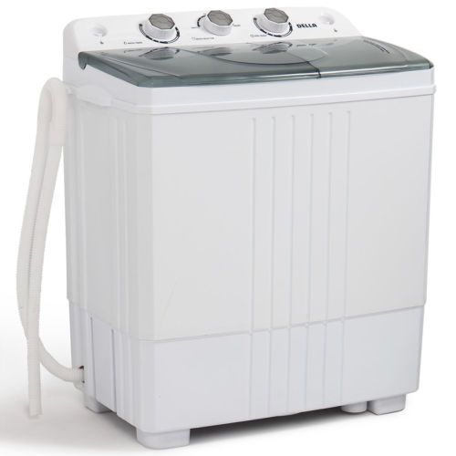 Portable Mini Washing Machine Compact Twin Tub 11lb Washer Spin Dryer White 846183161479 Ebay Portable Washing Machine Mini Washing Machine Portable Washer And Dryer
