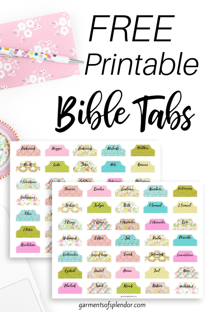 10 Creative Ways to Study the Bible download these free printable books of the Bible tabs! #bibletabs #bibleprintables #biblestudy #chriatianblogs #printables #freeprintables #bible