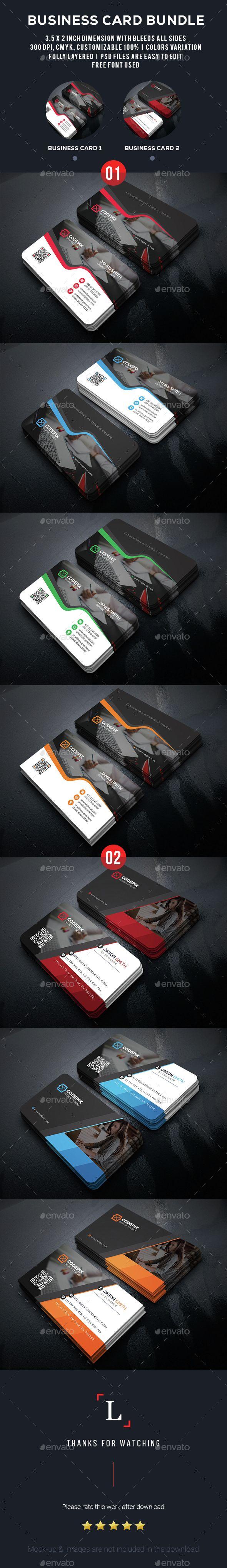 Business Card Bundle — Photoshop PSD #corporate #official ...