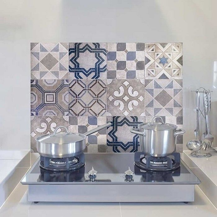 Paraschizzi per cucina adesivo Vintage Tiles - Spidersell ...