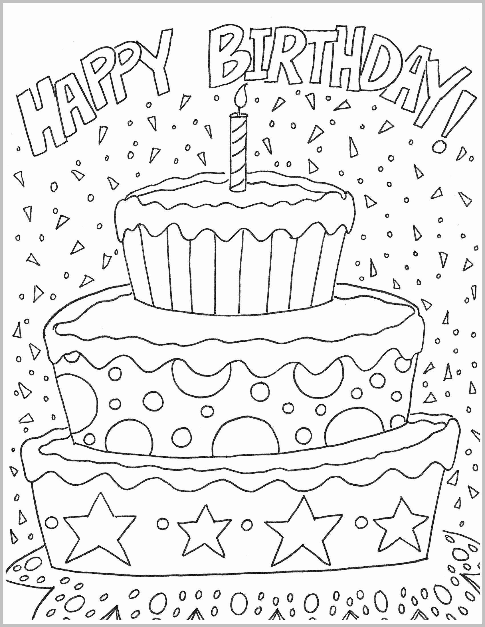 Happy 3rd Birthday Grandson Luxury Happy Birthday Cake Coloring Sheet Elegant Bi Coloring Birthday Cards Happy Birthday Coloring Pages Happy Birthday Printable