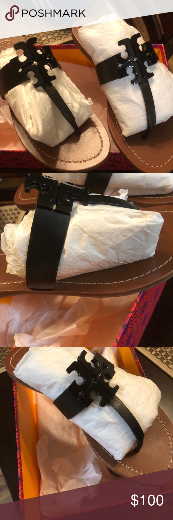 d7922fece2c Tory Burch Sandals Tory Burch Moore 2 Flat Leather Thong Sandals...  Authentic. Purchased from Nordstrom... Worn 3 times!! Great Condition.