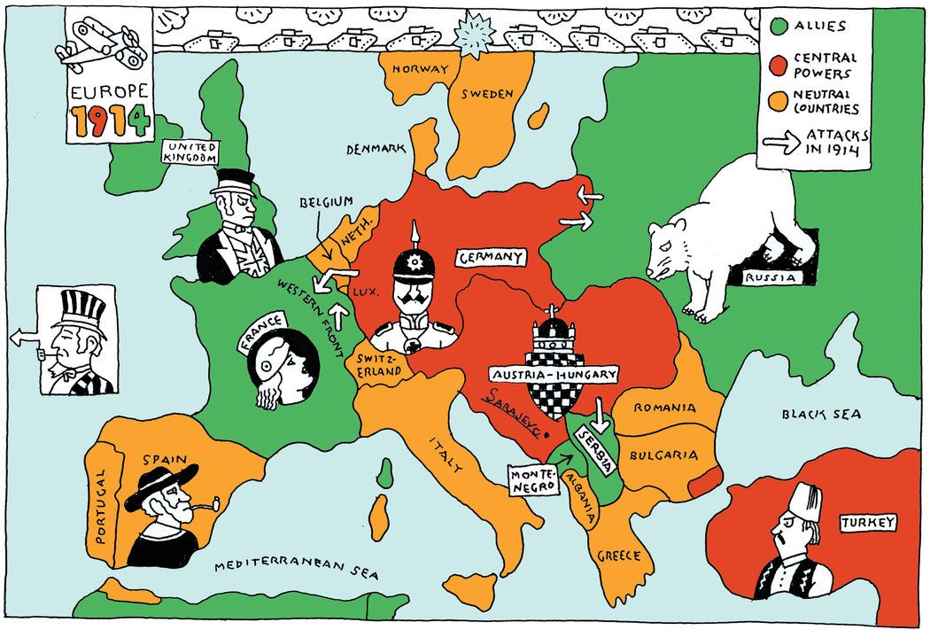 Finished 7517 the sleepwalkers how europe went to war in 1914 a political map of europe in 1914 before the war started gumiabroncs Choice Image