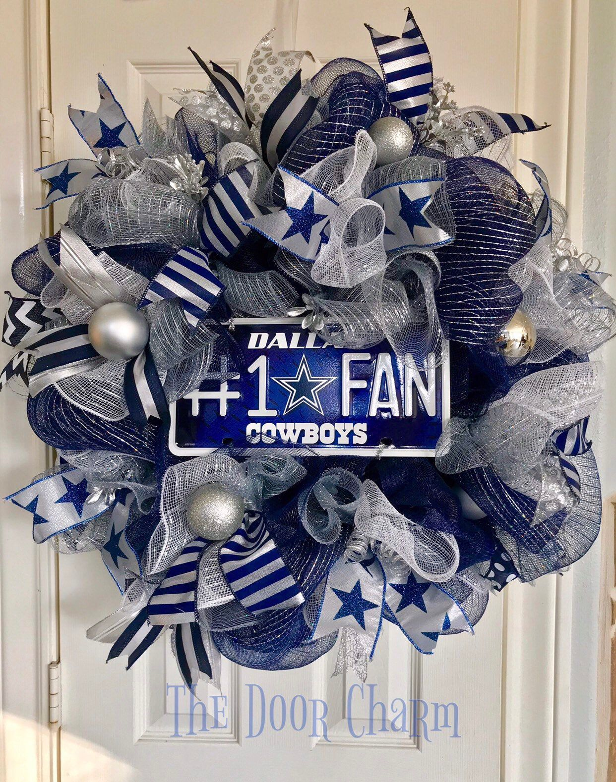 Christmas In Dallas 2020 Free Dallas Cowboys Wreath Deluxe Dallas Cowboys deco mesh wreath