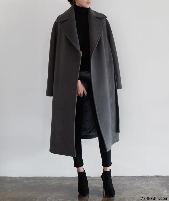 Uzun Manto Modasi 7 24 Kadin Mont Minimalist Moda Tarz Moda