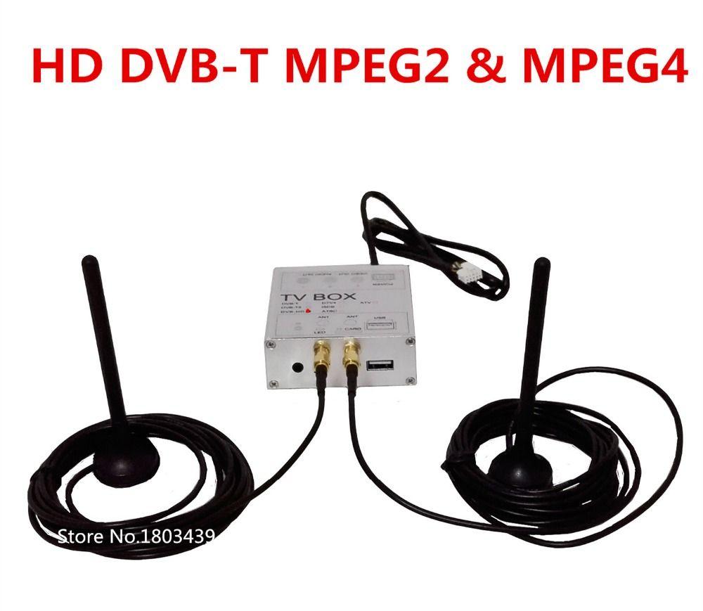 Car Dvd Player Radio Stereo Gps Navigation Digital Tv Receiver Box Hd Dvb T With Both Mpeg4 Mpeg2 Signal Dual Antenna Affil Digital Tv Tv Tuner Gps Navigation