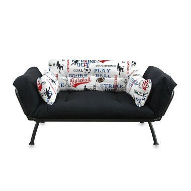 Mali Flex Futon Combo In American Sports With Pewter Frame Bedbathandbeyond Com