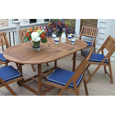 Beachcrest Home Sherborn 7 Piece Dining Set with Cushion